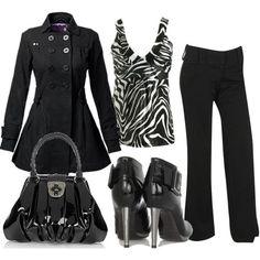 zebra print + black