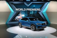 "bmwusa: ""The world premiere of the BMW Concept at the Shanghai Auto Show. "" If you like it, share it. Exhibition Stall Design, Exhibition Display, Exhibit Design, Stand Design, Display Design, Expo Stand, Bmw Concept, Backdrop Design, Point Of Purchase"