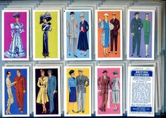 British Costume Issued by Brooke Bond Tea Cards Date issued 1967 Blue back - Original 50 cards in set All corners and sides are sharp