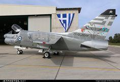 "Greece Air Force  LTV A-7E Corsair II 159648 s/n E-390 Araxos Greece October 2014 Photo by: Markus Altmann ""A-7 Corsair retirement spotter day."""