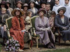 Downton Abbey: Season 5 - War Memorial - Lady Mary Crawley, Master George Crawley, Baxter, Cora, Countess of Grantham, Denker, Lady Edith Crawley, Mrs Hughes, Violet, Dowager Countess of Grantham, Mrs Patmore, Tom Branson, Miss Sybbie Branson and Isobel Crawley