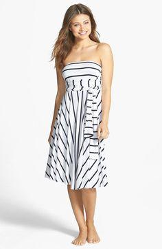 Elan Stripe Convertible Cover-Up Dress   Nordstrom