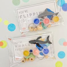 Whales + Dolphins Keychain Party Favor - dolphin