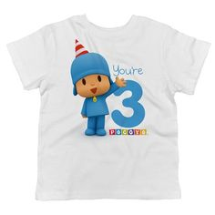 Pocoyo - Happy Birthday You're 2 Toddler T-Shirt - Trunk Candy Happy Birthday For Him, Happy Birthday Best Friend, 2nd Birthday Shirt, Happy Birthday Cakes, Happy Birthday Wishes, Birthday Cards, Happy Birthday Typography, First Birthday Decorations, Birthday Ideas