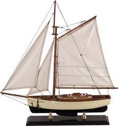 Classic sailboat replica model