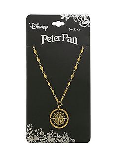 Never be lost again! // Disney Peter Pan Compass Necklace