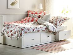 Daybeds, like HEMNES, turn any space into a comfy guest bedroom.