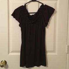 Cute brown top! Basic brown top in  great condition! Tops Blouses