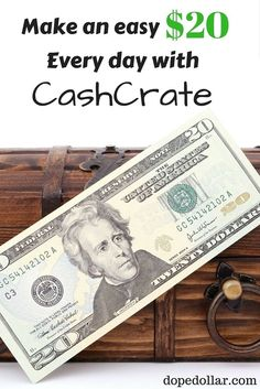Want to earn an extra $20 every day? CashCrate is a great place to earn side money and extra income. Check out how it works and how you can make money with them as soon as today.