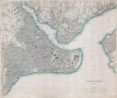 Map of Constantinople in 1841