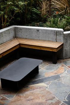 Inspired by the client's love of Brutalist architecture, Wellington Wall by Wolveridge Architects is a study of merging the heritage with the contemporary. Landscape And Urbanism, Landscape Elements, Garden Landscape Design, Australian Garden Design, Australian Native Garden, Architecture Courtyard, Concrete Interiors, Front Courtyard, Corner Garden