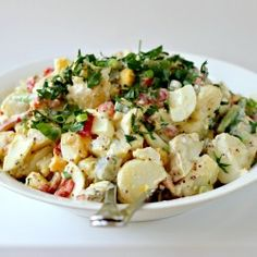 Milk and Honey: Texas-Style Potato Salad Potato Dishes, Potato Recipes, Vegetable Recipes, Low Calorie Recipes, Healthy Recipes, Healthy Foods, How To Make Potatoes, Southern Recipes, Southern Food