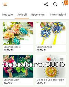Sconti e ancora sconti nel mio negozio sconto del 15% utilizzando il codice sconto: GIU0416 Valido dal 04/06/17 al 16/06/2017. Gioielli da Designer Unico vi aspettano!  Discounts and discounts in my store etsy discount of 15% using discount code: GIU0416 Valid from 04/06/17 to 16/06/2017. Jewelry from the Designer Unique are waiting for you!  Link shop: http://etsy.com/it/shop/VSBJewelryDesigner