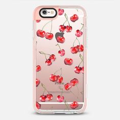 Cherry Pattern_ Watercolor Fruit (transparent) - New Standard Pastel Case #cherry #pattern #foodies #food #fruit #watercolor #case #iphone #apple #iphone6s #fresh #summer #sweet #healthy