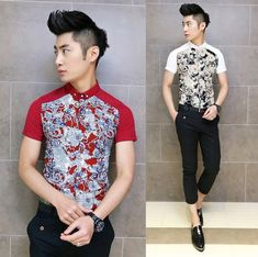 2014 Fashion Man Tops Chinese Stylish Floral Shirts Slim Mens Charming Party Club Shirts Supplier