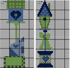 Cross Stitch Charts, Bird Houses, Bookmarks, Wildlife, Birds, Embroidery, Case, Crafts, Gardening