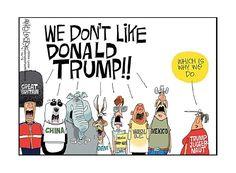 We don't like . . .  Cartoon | Donald Trump