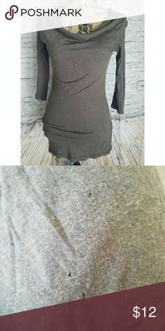 Three Dots Cowl Neck Three Quarter Top Size Small Has three little holes on the bottom top of the blouse. Please see pictures! Hard to tell unless close up. Three Dots Tops Tees - Long Sleeve