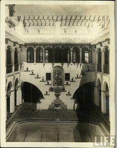 Interior de la Casa España,años 50,San Juan ,Puerto Rico.