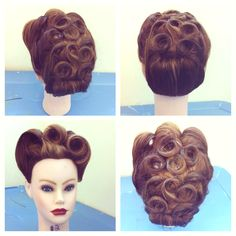 Can not wait to do vintage hairstyles. My favorite!! love doing them :)