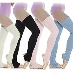 Long Stirrup Leg Warmers Ballet Dance Warm up Ribbed Blue Pink White Black Dance Outfits, Cool Outfits, Dance Warm Up, Jazz Shoes, Ballet Clothes, Ladies Dress Design, Dance Wear, Leg Warmers, Leotards