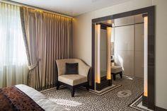 Interior design and realization by Werner Scheuber AG Carpet Flooring, Luxury Interior Design, Curtains, Logo, Home Decor, Room Interior Design, Interior Designing, Luxury Home Decor, House