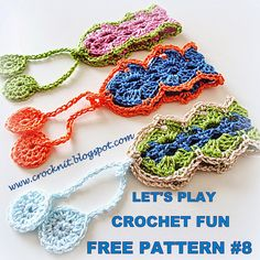 MiCrocknit Creations: BOHO Bracelet Wrist Cuffs - free crochet pattern by Barbara Summers. ༺✿ƬⱤღ  https://www.pinterest.com/teretegui/✿༻