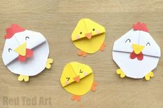 Super lovely and oh so easy to make Easter Chick Bookmarks. Completed with Chicken Bookmark or even Rooster. Must see and must make for Easter Reading!