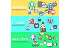 Business Banners. Business Infographic
