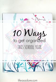 It can be hard to get organized, but here are some great tips that are super easy and will definitely help get you started! Read the rest at lifeasadare.com