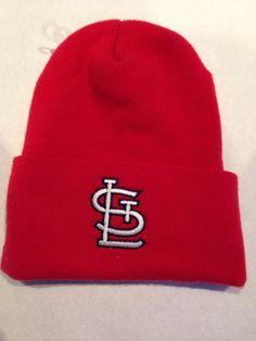 Vtg St Louis Cardinals Beanie Skull Cap Hat Vintage MLB Patch Logo 7 | eBay