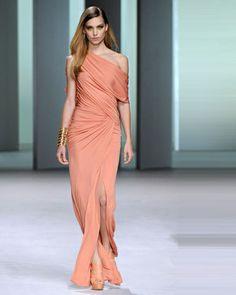 osell wholesale dropship Elegant Charmeuse Ruffle One Shoulder Floor Length Evening Prom Dresses $73.79