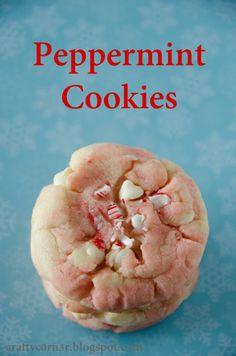 Peppermint cookies.