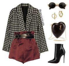 """""""• •"""" by marcia-micaela ❤ liked on Polyvore featuring Christian Louboutin, Lucky Brand and Yves Saint Laurent"""