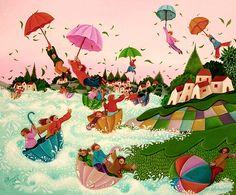 Danza di ombrelli