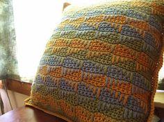 spike stitch cushion