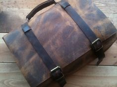 Leather backpack briefcase messenger by LUSCIOUSLEATHERNYC