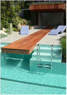 built in slip n slide and waterfall