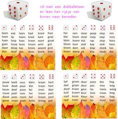 Lijn 3 Thema 4 Dobbelsteen gooien - Digibord Onderbouw Learn Dutch, Kids Learning Activities, Start The Day, My Teacher, Primary School, T 4, Spelling, Homeschool, Letters