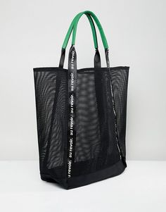 ea3b9314eb9a Stradivarius large mesh shopper at asos.com