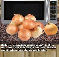 peeling onions