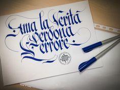 Francois Marie Arouet - Voltaire. © 2014 alberto manzella. Tutti i diritti riservati. #albertomanzella #calligrafia #gotico #voltarire #calligraphy