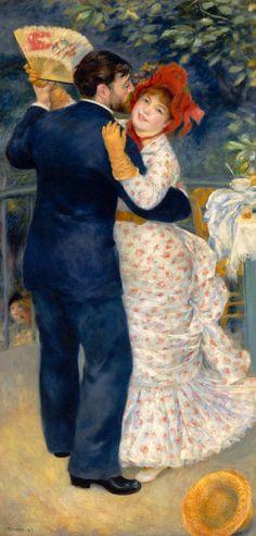 """Pierre Auguste Renoir - """"Baile en el campo"""" (1883,...   EL CUADRO DEL DÍA"""