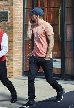 The Beckhams, David Beckham out in NYC (25/09/15)
