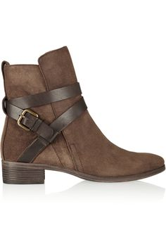 See by Chloé | Buckled suede ankle boots | NET-A-PORTER.COM