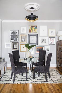For a balanced gallery wall, mix paintings, drawings, and photographs | domino.com