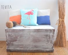 New flamingo and dip dye cushions / lifestyle products/ interior homewares decor / beach boho summer style / kids / Made in Bali / ethical / social responsibility / Ubud / Tevita Clothing and Lifestyle