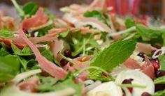 Fennel, Prosciutto, and Pomegranate Salad