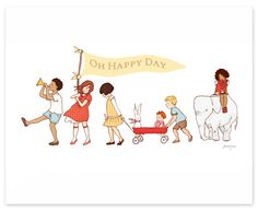"""""""Oh Happy Day"""" print by Sarah Jane"""