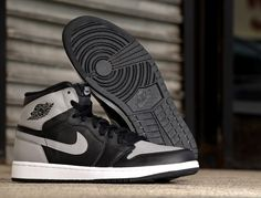 promo code bf02d a3579 Air Jordan 1 Retro High OG- Black   Soft Grey Air Jordan 1 Shadow,